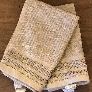 Zara Home Beige Face Towels(Set of Two)